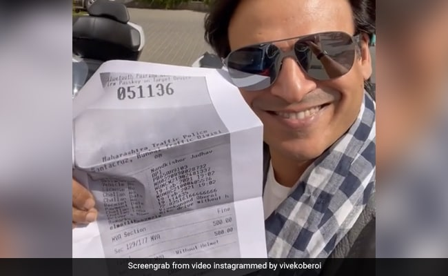 Vivek Oberoi's chopped challan, then said- 'This is us and this is my bike and our acknowledgment is cut.' ... Watch Video