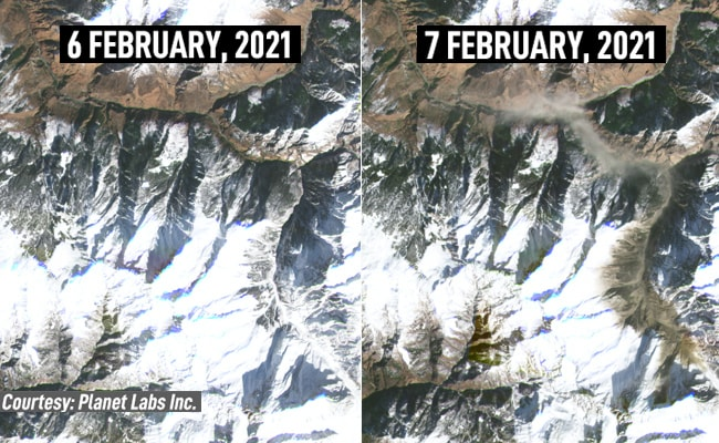 Unique: Earlier than And After Satellite tv for pc Pictures Of Uttarakhand Catastrophe Web site