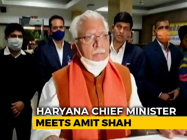 Video : Haryana Chief Minister Meets Amit Shah, Hardens Stand Against Protesters