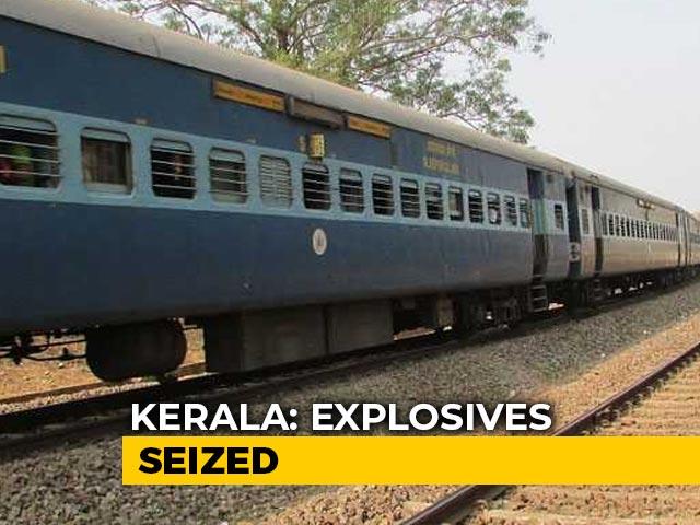 Video : 100 Gelatin Sticks, 350 Detonators Seized From Train Passenger In Kerala