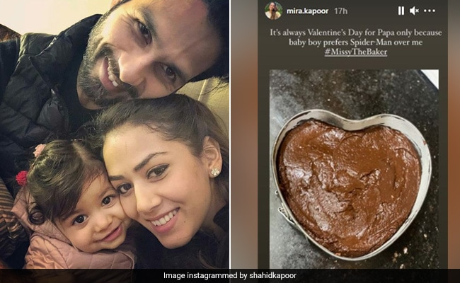 'It's Always Valentine's Day For Papa': Shahid Kapoor's Daughter Misha Bakes Cake. See Mira Rajput's Post