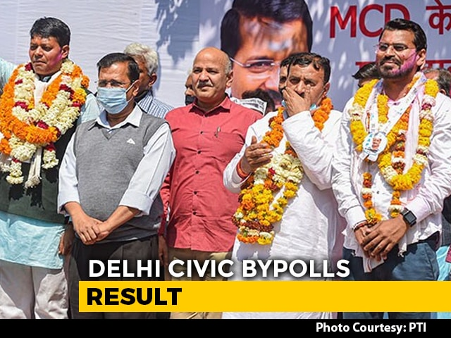 Video : AAP Wins 4 Of 5 Seats In Delhi Civic Bypolls, Says 2022 Message For BJP