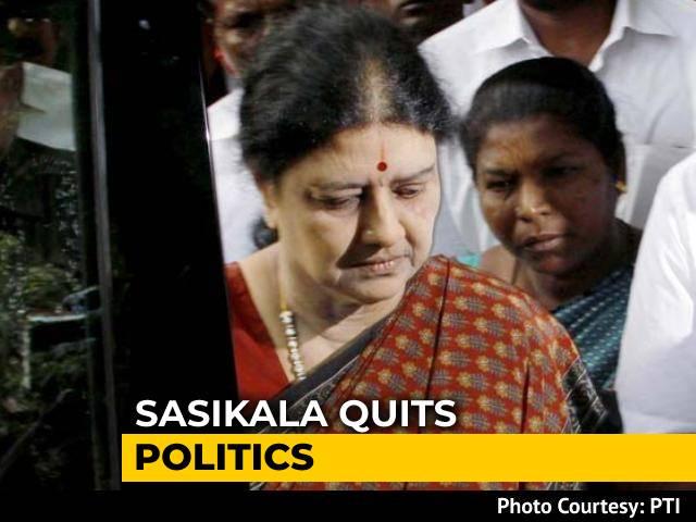 Video : Expelled AIADMK Chief VK Sasikala Quits Politics Ahead Of Tamil Nadu Polls
