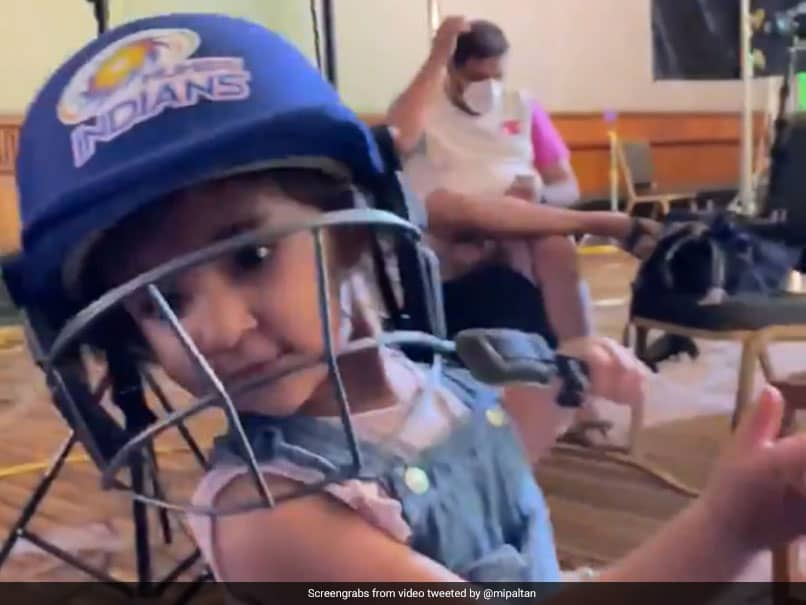 "Rohit Sharmas Daughter Samaira Cheers For Mumbai Indians, Plays A ""Mini Pull-Shot"". Watch"