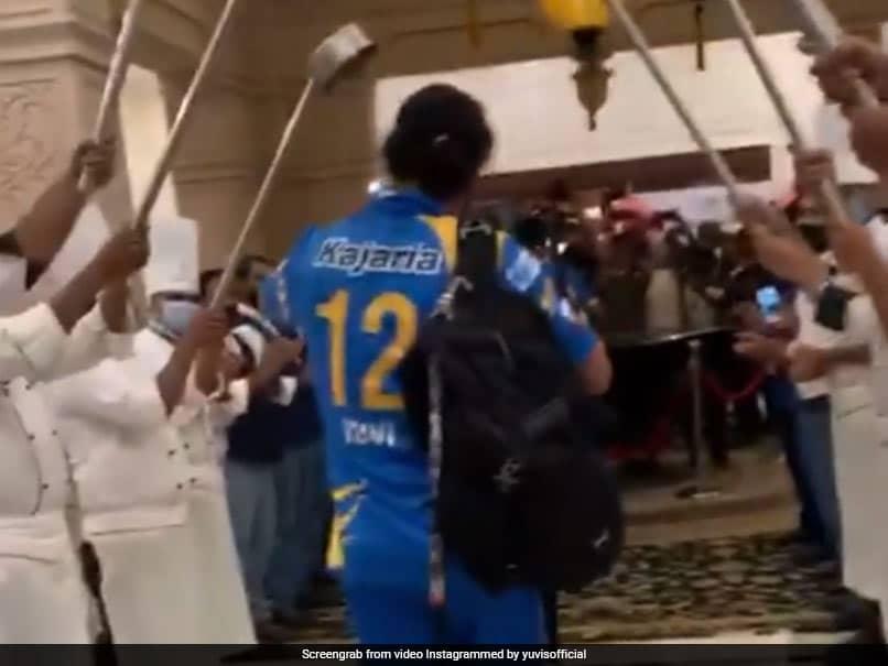 """Broken Bahubali"" Yuvraj Singhs Grand Reception After India Legends Win Title. Watch"