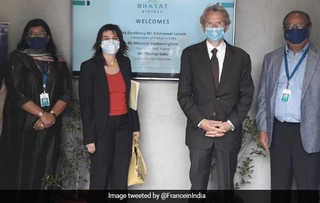 French Ambassador Visits Bharat Biotech Facility In Hyderabad