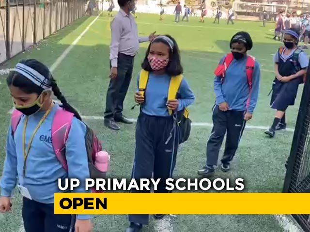 Video : Social Distancing, Sanitisers: UP Primary Schools Reopen With Covid Protocols