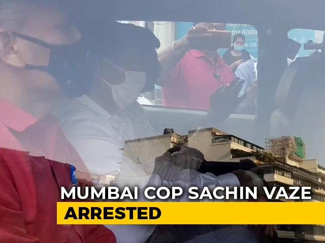 Video : Mumbai Cop Arrested Over Alleged Role In Ambani Security Scare Case