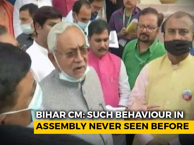 Video : Furious Nitish Kumar Defends Decision To Call Cops Inside Bihar Assembly
