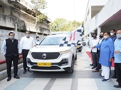 MG Motor India Donates Five Retrofitted Hector Ambulances To Nangia Specialty Hospital