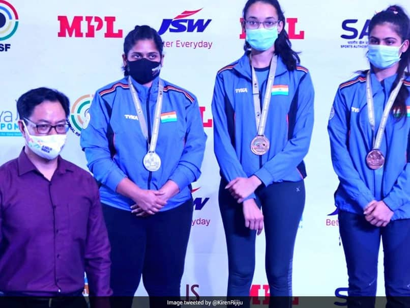 ISSF World Cup: India Win Gold In Womens 25m Pistol Team Event