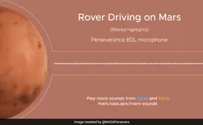 Hear That? It's The Sound Of Driving On Mars, Courtesy NASA's Rover