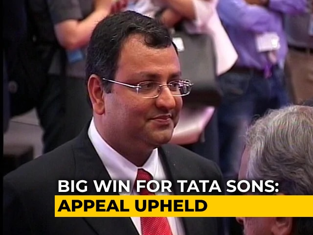 Video : In Big Win For Tata Sons, Supreme Court Backs Removal Of Cyrus Mistry