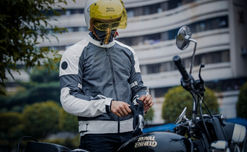 The range of riding gear include CE-certified jackets, gloves and knee guards