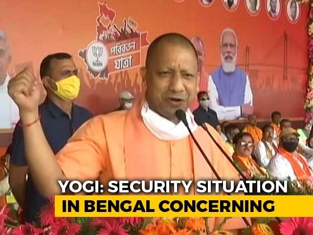 "Video : ""I Want To Tell Mamata <i>Didi</i>..."": Yogi Adityanath's Poll Warning In Bengal"