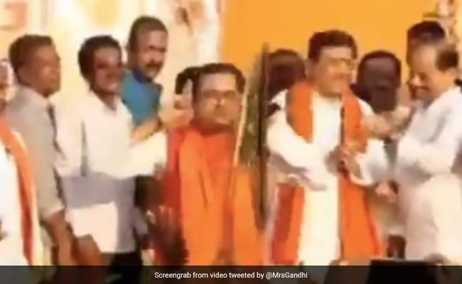 Ex-Trinamool Leader Performs Squats Holding Ears On Stage After Joining BJP
