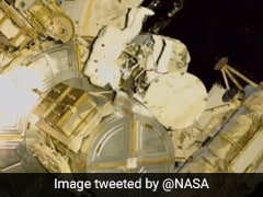 "Watch: ""Caught In Action,"" Says NASA On Spacewalk By 2 Astronauts"