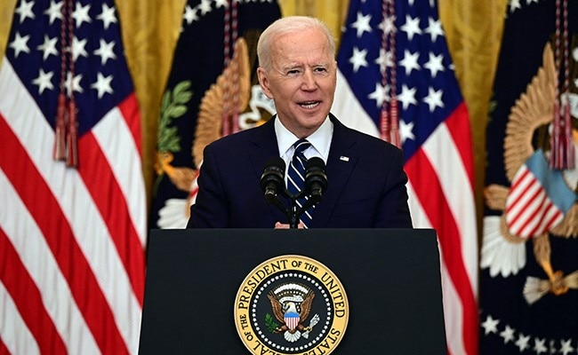 """US President Joe Biden's First Press Conference As POTUS Faces Fire Over """"Cheat  Sheet"""""""