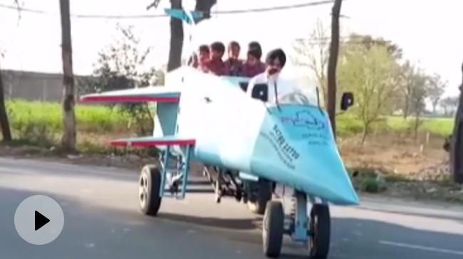 Video | Architect Builds Jet-Shaped Vehicle, Names It 'Punjab Rafale'