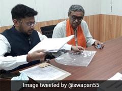 BJP's Swapan Dasgupta Files Nomination From Tarakeshwar For Bengal Polls