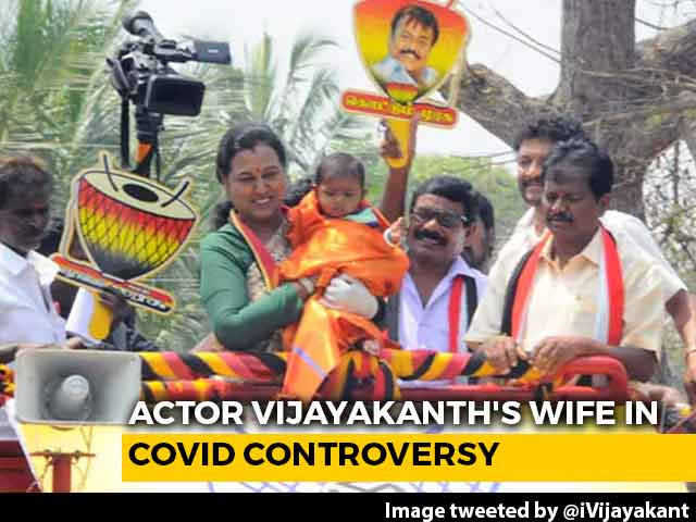 Video : Actor Vijayakanth's Wife Skips Covid Test, Heads Out For Poll Campaign