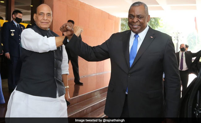 Rajnath Singh's 'Elbow Bump' With US Defense Secretary Lloyd Austin