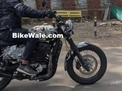 Jawa Forty Two Scrambler Spotted Testing In India