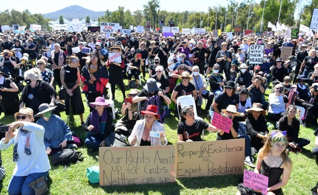 Thousands Protest At Australian Parliament Demand Justice For Sexual Assault Victims