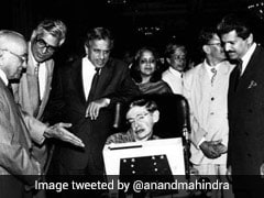 """Anand Mahindra With Stephen Hawking In This """"Blast From The Past"""""""