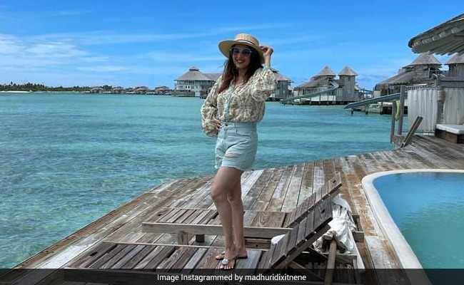 Madhuri Dixit, Holidaying In Maldives, Shares This Stunning Pic