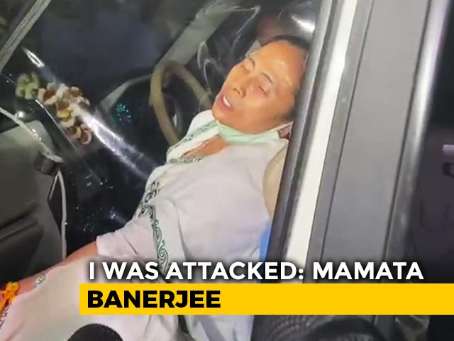 """Video : """"There Were No Cops"""": Mamata Banerjee Injured, Says Pushed By 4-5 Men"""
