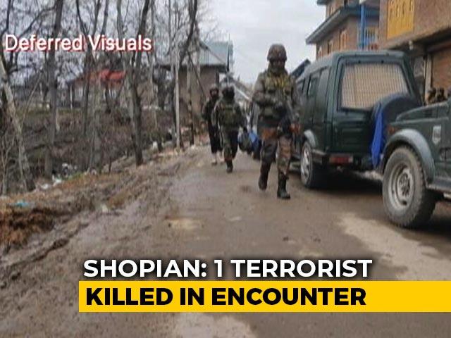 Video : Terrorist Killed In Encounter In J&K's Shopian, Anti-Terror Ops On