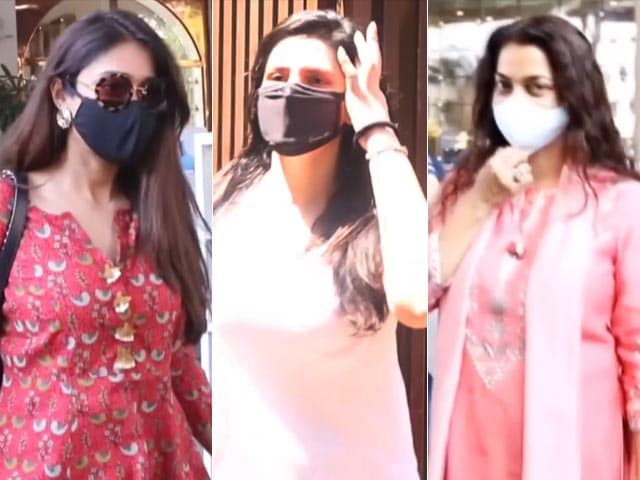 Video : Spotted: Bollywood Beauties Ileana D'Cruz, Zareen Khan, Juhi Chawla And Others