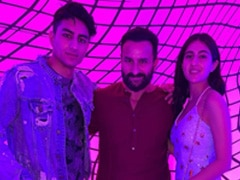 Pics From Sara Ali Khan And Ibrahim's Day Out With Dad Saif Ali Khan