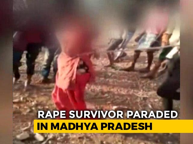 Video : Rape Survivor Tied, Paraded With Her Attacker In Madhya Pradesh Shocker
