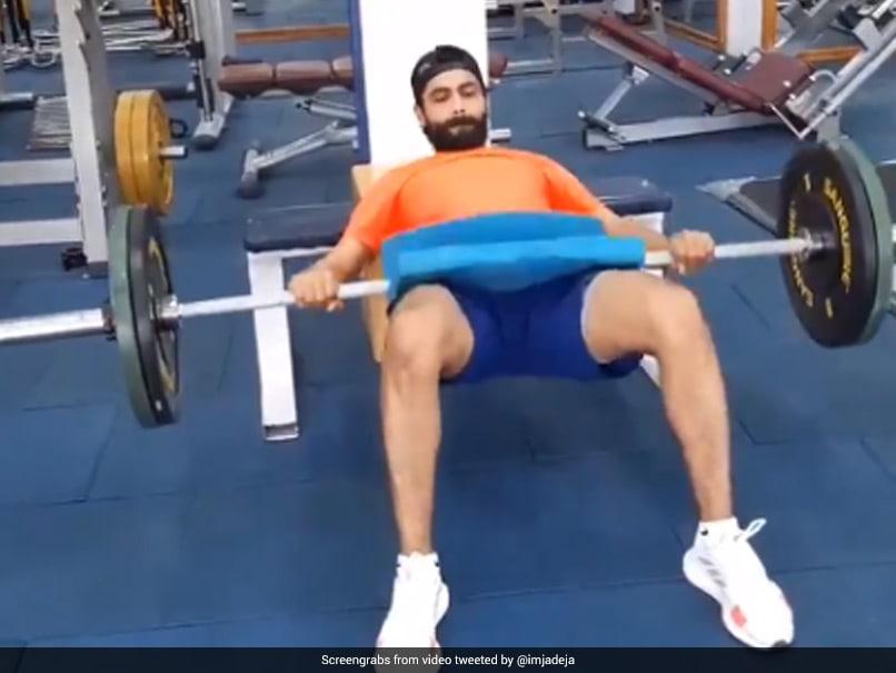 "Ravindra Jadeja Seen ""Hustling On"" At The Gym As Rehabilitation Begins. Watch | Cricket News"
