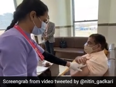 Union Minister Nitin Gadkari, Wife Get 1st Dose Of Covid Vaccine