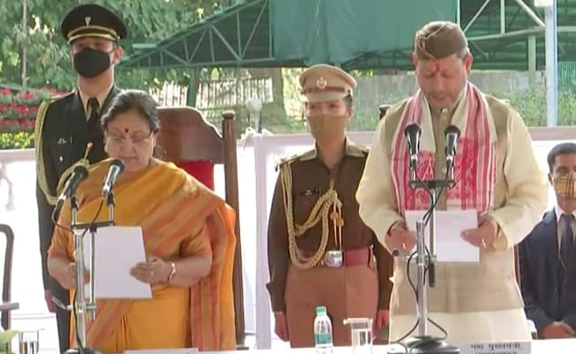 Tirath Singh Rawat Sworn In As New Chief Minister Of Uttarakhand