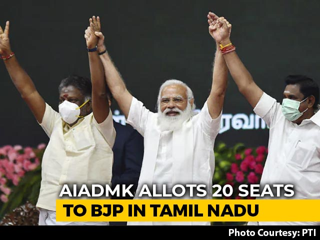 Video : AIADMK Allots 20 Seats To BJP For Tamil Nadu Election