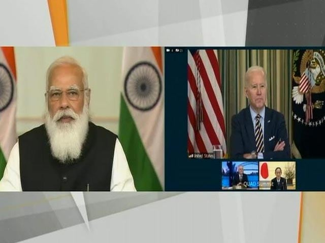 "Video : Watch: Joe Biden At Quad Meet Says, ""PM Modi, Great To See You"""