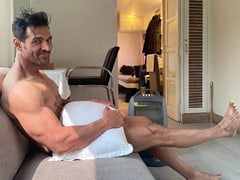 "Just A Pic Of John Abraham ""Waiting For Wardrobe."" We Can't Even..."