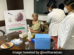 Nirmala Sitharaman Takes First Dose Of COVID-19 Vaccine