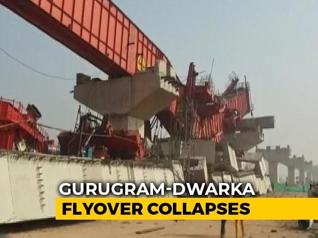 Video : Under-Construction Flyover On Highway Collapses In Gurgaon, 3 Injured