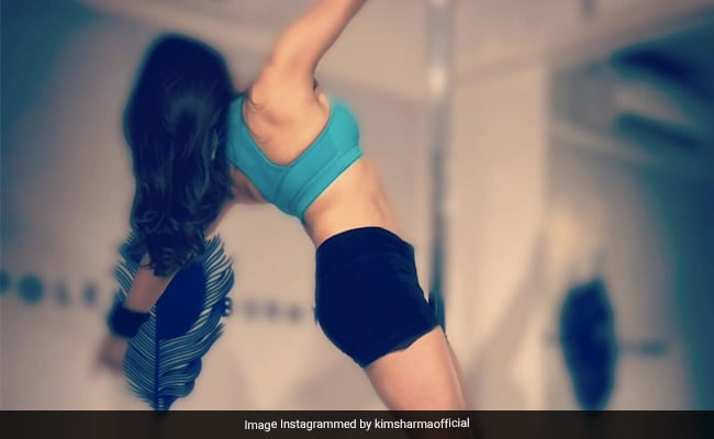 Kim Sharma's Midweek Mantra Is To Just 'Hang In There'