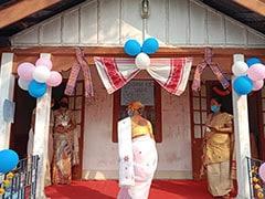 Assam Assembly Election: Bihu Decorations, Children's Corner At Model Booths - Pics