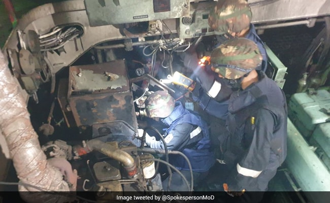 Indian Navy Provides Help To Cargo Ship Stranded In Gulf Of Oman