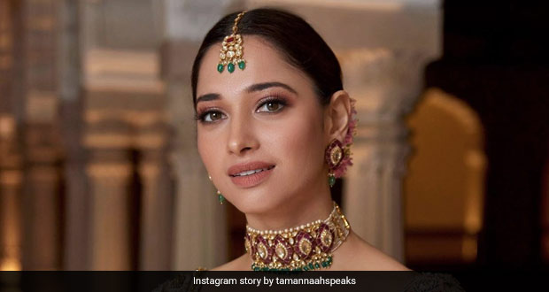 Tamannaah Bhatia's Gold-Plated Charcoal Ice Cream Is A Vision (See Pic)