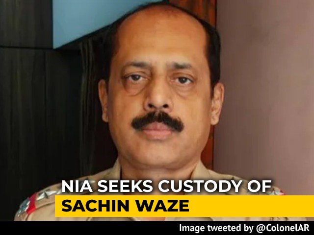 Video : Found 62 Bullets From Arrested Cop's House: NIA In Ambani Bomb Scare