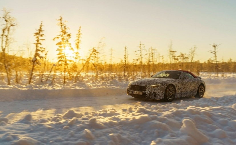 The fully camouflaged car is undergoing winter testing and road trials will begin very soon.