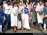 Video : Mamata Banerjee Leads All-Women March In Kolkata